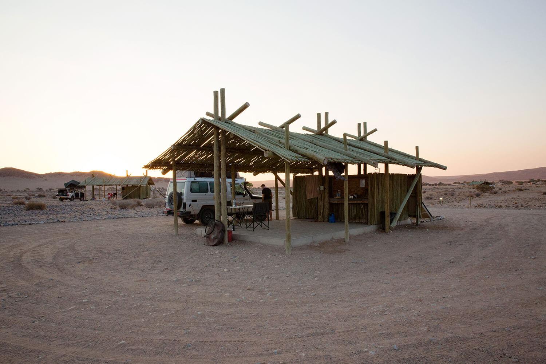 Camping Platz bei Sossusvlei in Namibia