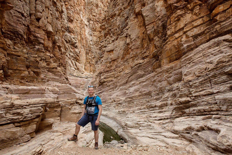Markus vor der Schlucht im Olive Trail